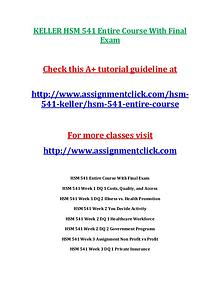 KELLER HSM 541 Entire CourseKELLER HSM 541 Entire Course With Final E