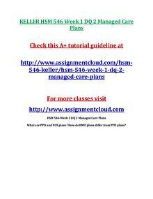 KELLER HSM 546 Entire Course