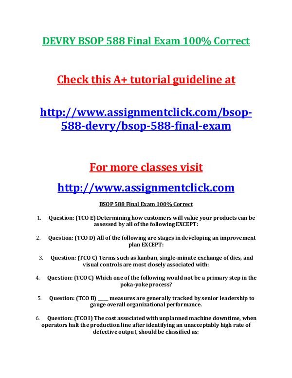BSOP 588 Final Exam ( Two Different Versions)