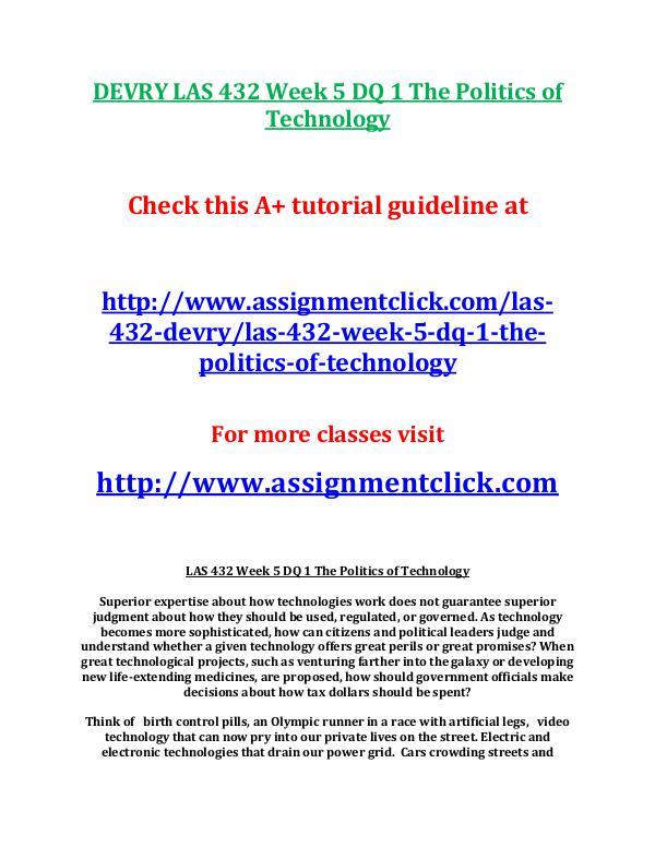 Las432 midterm study guide