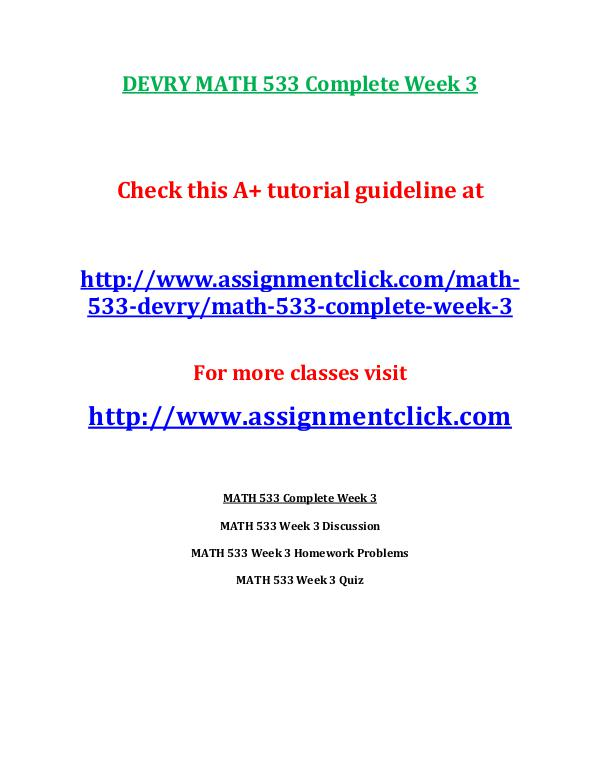 math 533 project 1 Course resources: math 533 course project - salescall inc useful guidance material for devry university students to secure higher grades.