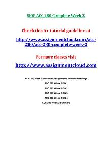 ACC 280 entire course