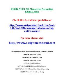 Devry ACCT 346 entire course