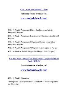 CIS 510 Course Great Wisdom / tutorialrank.com