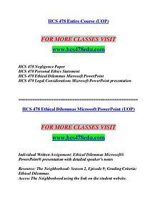 HCS 478 EDU Redefine Possible/hcs478edu.com