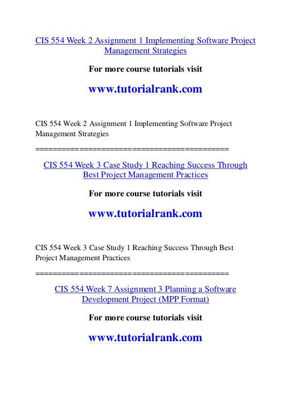 CIS 554 Course Great Wisdom / tutorialrank.com CIS 554 Course Great Wisdom / tutorialrank.com