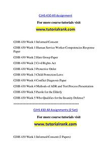 CJHS 430 Course Great Wisdom / tutorialrank.com