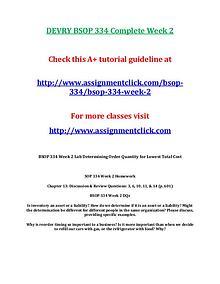DEVRY BSOP 334 Entire CourseDEVRY BSOP 334 Entire Course