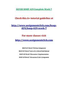 DEVRY BSOP 429 Entire Course Includes Final Exams