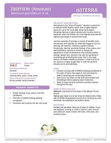 Jasminum grandiflorum Jasmine essential oil By doterra