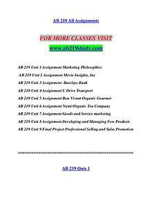AB 219 STUDY Invent Yourself/ab219study.com