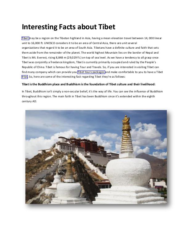 Interesting Facts about Tibet Interesting Facts about Tibet - Basanta Tibet