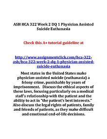 ASH HCA 322 Entire Course