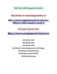 UOP ACC 280 Entire CourseUOP ACC 280 Entire Course