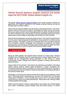 Vehicle Security Systems analysis research report for 2017-2024