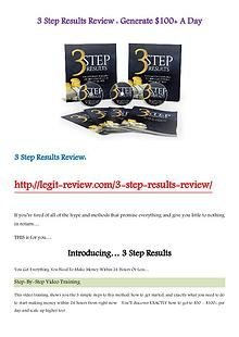 3 Step Results Review - Generate $100+ A Day