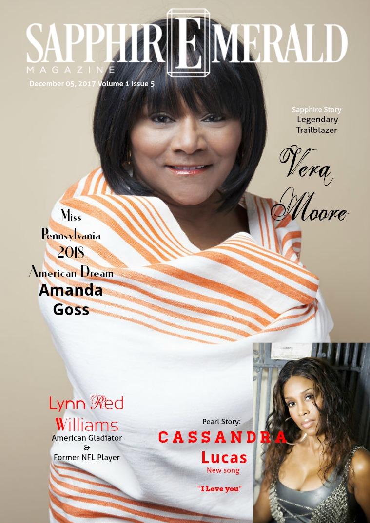 "SapphirEmerald Magazine Vera Moore ""Legendary Trailblazer"""