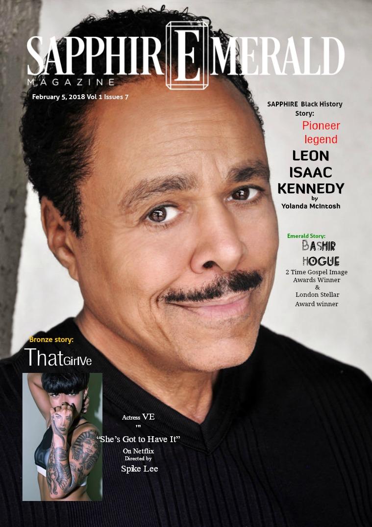 "SapphirEmerald Magazine Pioneer Legend ""Leon Isaac Kennedy"" Sapphire Story"