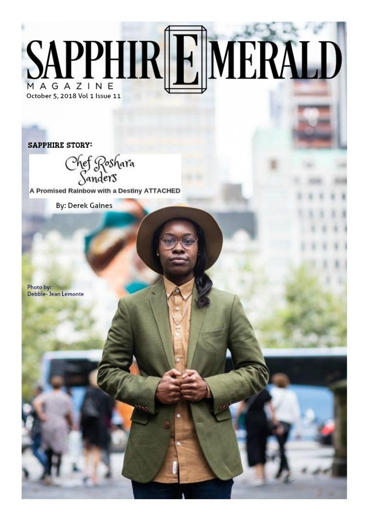 SapphirEmerald Magazine October 5,2018, Vol 1 Issue 11