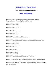 FIN 419 Expect Success/uophelp.com