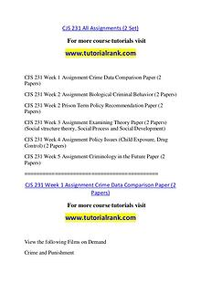CJS 231 Course Great Wisdom / tutorialrank.com