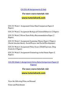 CJS 231 Course Great Wisdom / tutorialrank.com