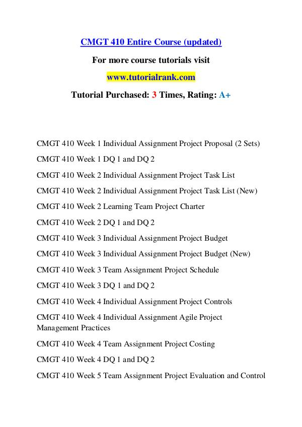 cmgt 410 Project proposal outline project title call center implementation project cmgt 410 (2 pages | 707 words) project objective this project will allow the roll out of three new call centers for the nasa john c stennis space center 3project background.