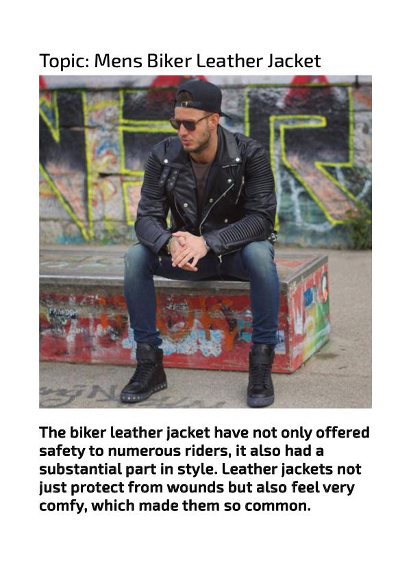 Stylish Mens Biker Jackets Cool Outfits for Men