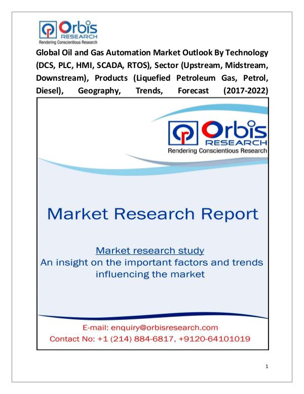Research Report: Global Oil and Gas Automation Market