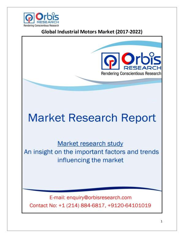Research Report: Global Industrial Motors Market