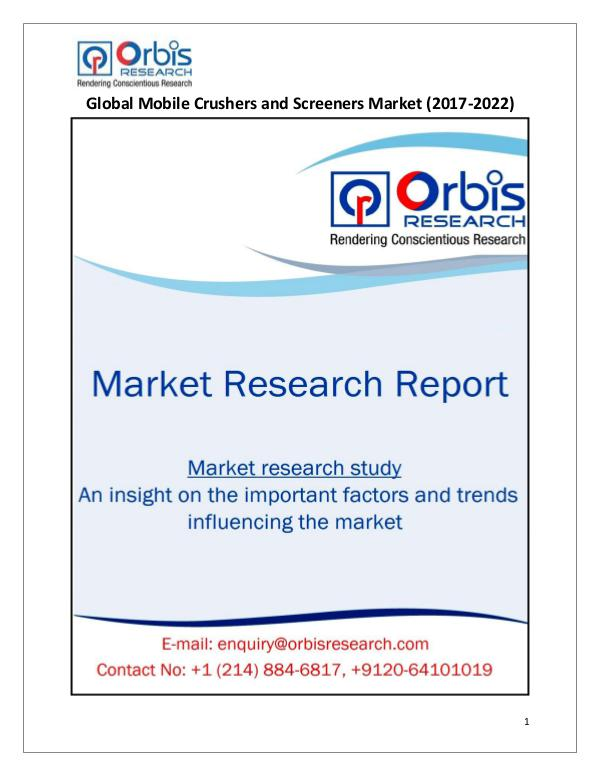 Research Report: Global Mobile Crushers and Screeners Market