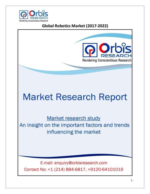 Research Report: Global Robotics Market