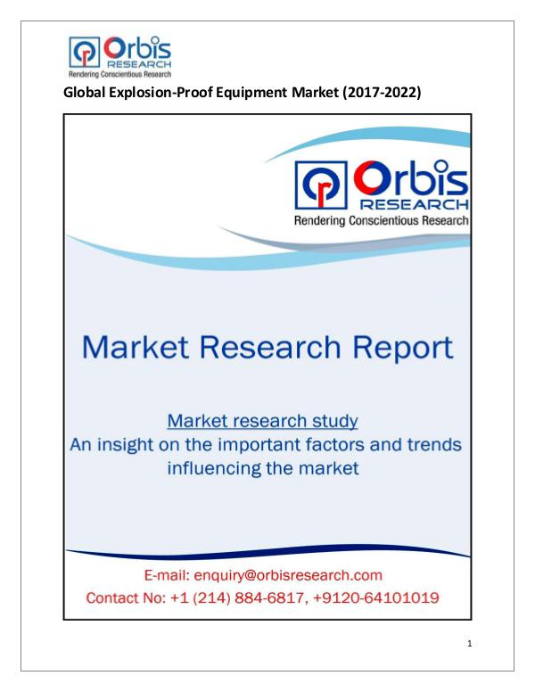 Research Report: Global Explosion-Proof Equipment Market