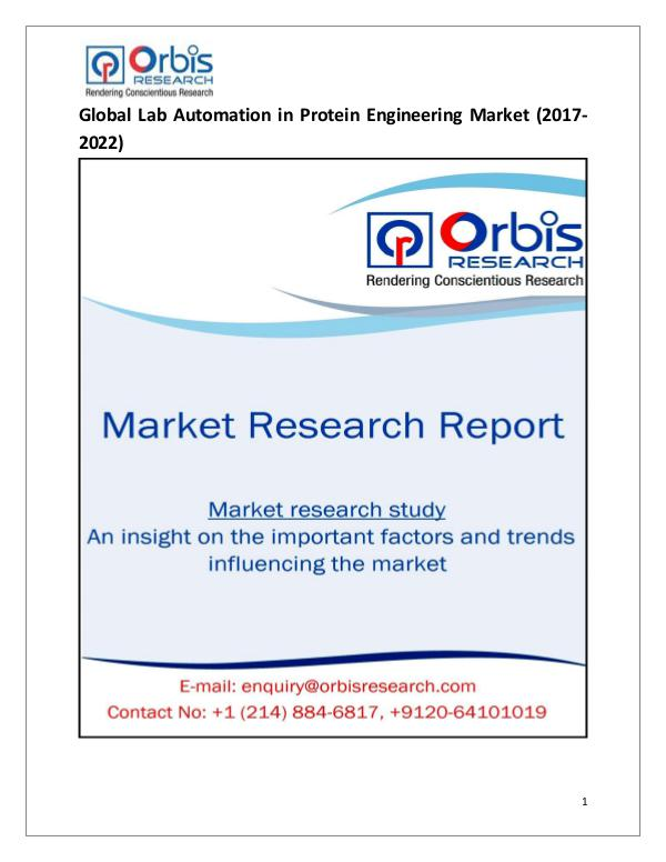 Research Report: Global Lab Automation in Protein Engineering Marke