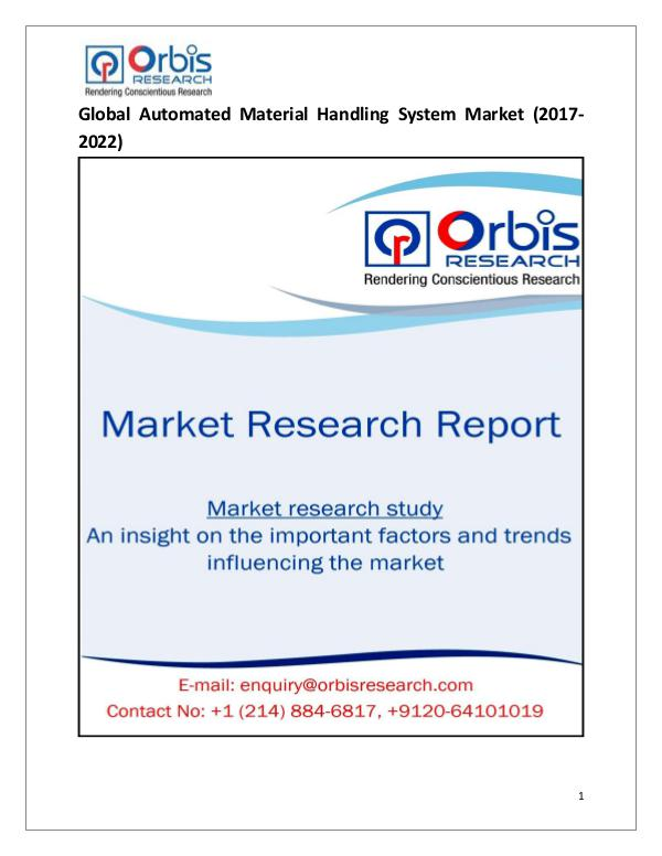 Research Report: Global Automated Material Handling System Market