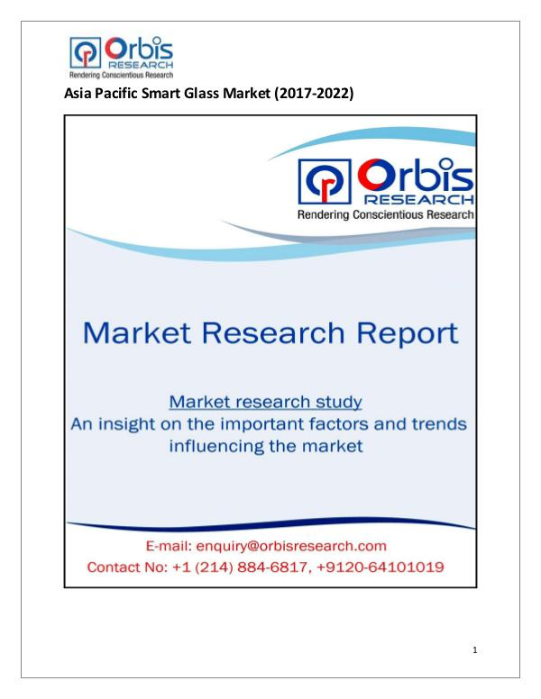Asia Pacific Smart Glass Market