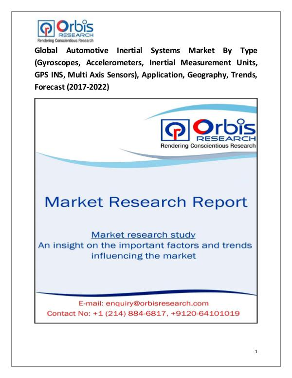 Research Report : Automotive Inertial Systems Market 2017