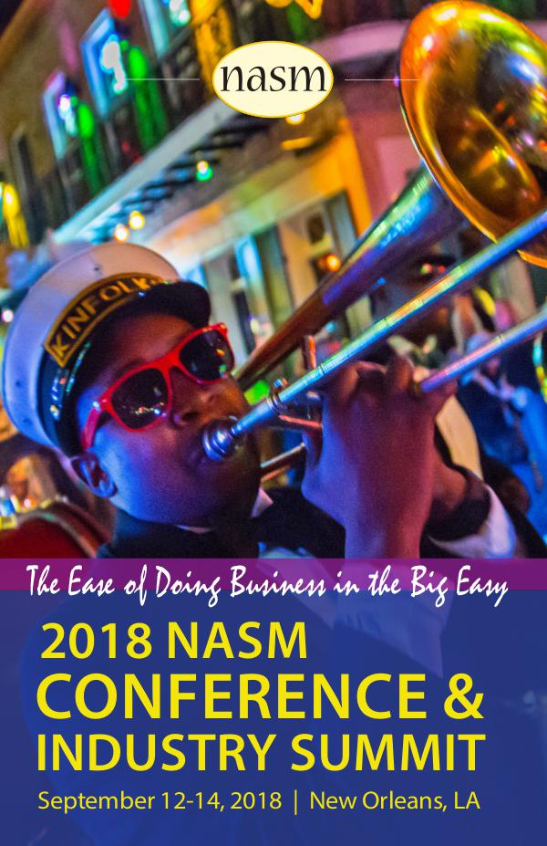 2018 NASM Conference and Industry Summit Onsite Guide 2018 NASM Conference and Industry Summit Guide