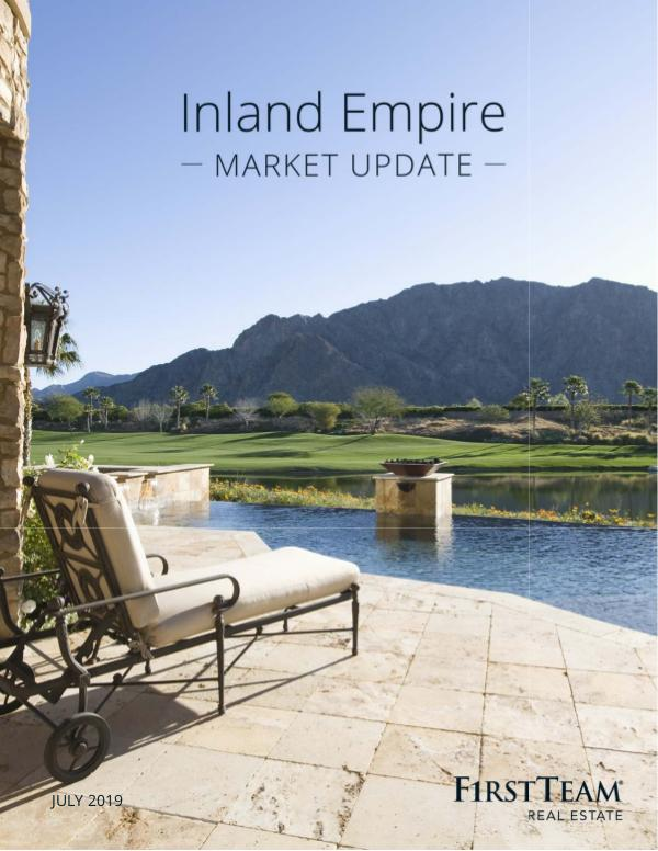 Real Estate Market Update Inland Empire | July 2019