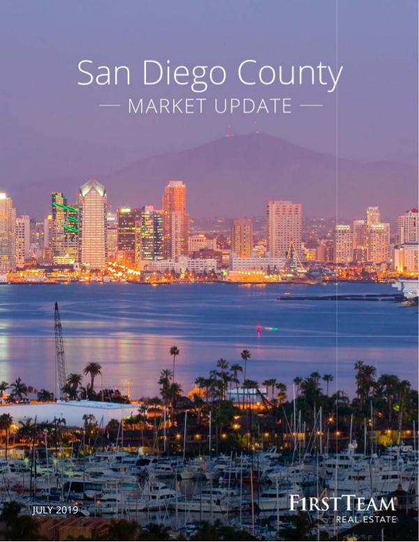 Real Estate Market Update San Diego County | July 2019
