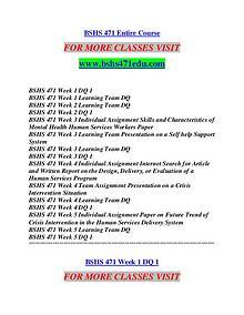 BSHS 471 EDU Future Starts Here/bshs471edu.com
