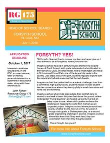 Forsyth School Head Search Position Statement