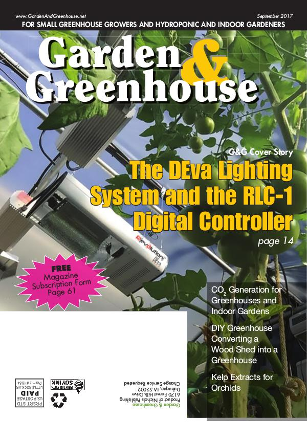 Garden & Greenhouse September 2017 Issue