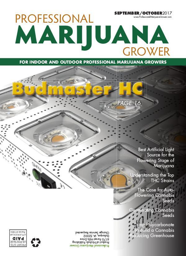 Professional Marijuana Grower September-October 2017 Issue