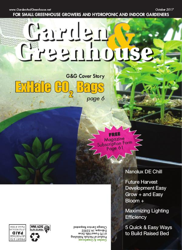 Garden & Greenhouse October 2017 Issue