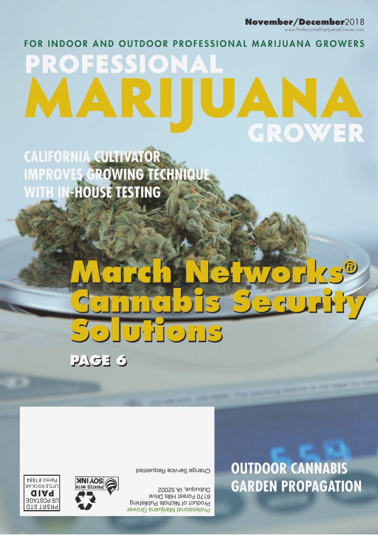 Professional Marijuana Grower November-December 2018 Issue