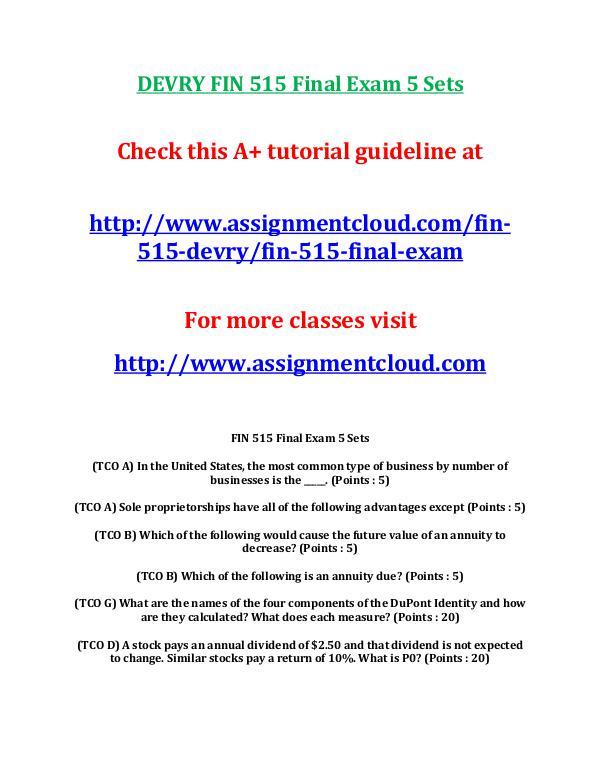fi 515 week 6 exam