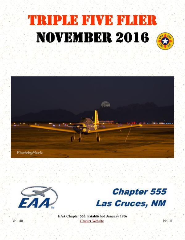 EAA Triple Five Flier Volume 40 Number 11