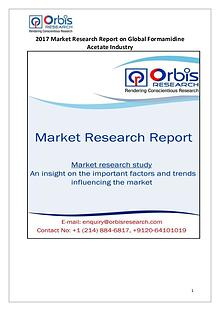 Global Formamidine Acetate Industry 2017 Market Research Report