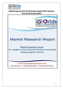 Global Isoprene Sales Market Analysis by Application & Forecast 2017